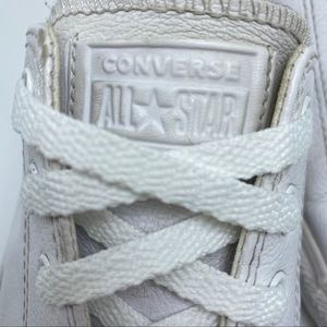 CONVERSE CHUCK TAYLOR ALL STAR white leather 10